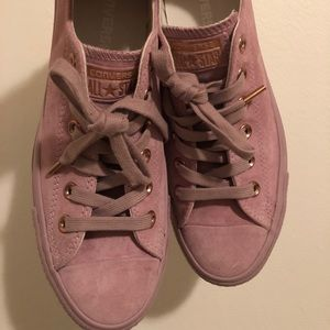 cafacfa1f9d2 Converse Shoes - All Star Low Leather Burnished Lilac Rose Gold